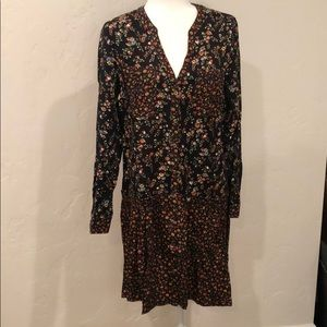 NWT- Maeve by Anthropology black floral dress